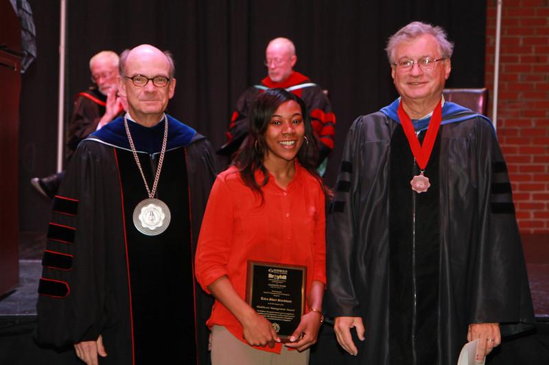 59th Academic Awards Day; Spring 2014. Healthcare Management Award: Talea Shari Sturdivant