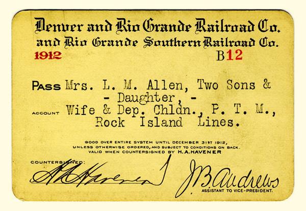 D&RG Railroad 1912