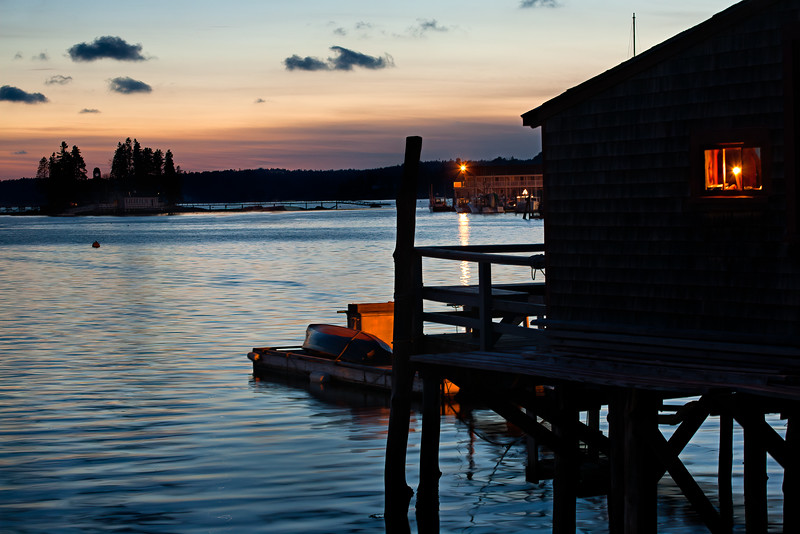 Boothbay Harbor, Maine, at Twilight (7859-7863)