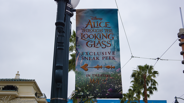 Disneyland Resort, Disney California Adventure, Hollywood Land, Sunset, Showcase, Theater, Alice, Looking, Glass