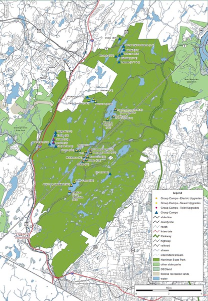 Harriman State Park (Group Campgrounds Map)