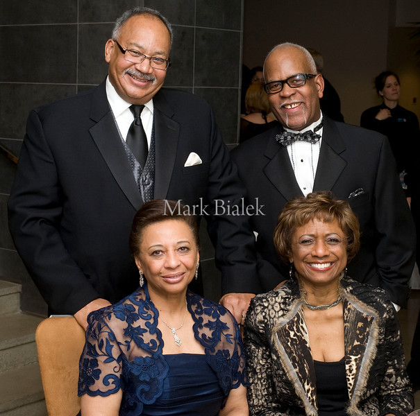 David Robinson and his wife Gloria of Detroit, left, and George and Kay Barnes of Beverly Hills at the SPAtacular, a benefit for Children's Hospital at the Immerse Spa inside the MGM Grand on Jan 13, 2012.  (Mark Bialek/Special to the Det News)