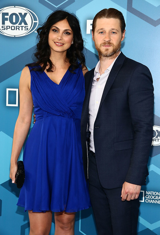 . NEW YORK, NY - MAY 16:  (L-R) Actors  Morena Baccarin and Ben McKenzie attend FOX 2016 Upfront Arrivals at Wollman Rink, Central Park on May 16, 2016 in New York City.  (Photo by Astrid Stawiarz/Getty Images)