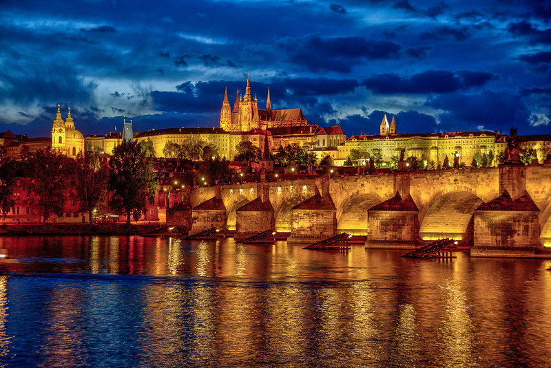 Prague Castle and St. Vitus Cathedral.