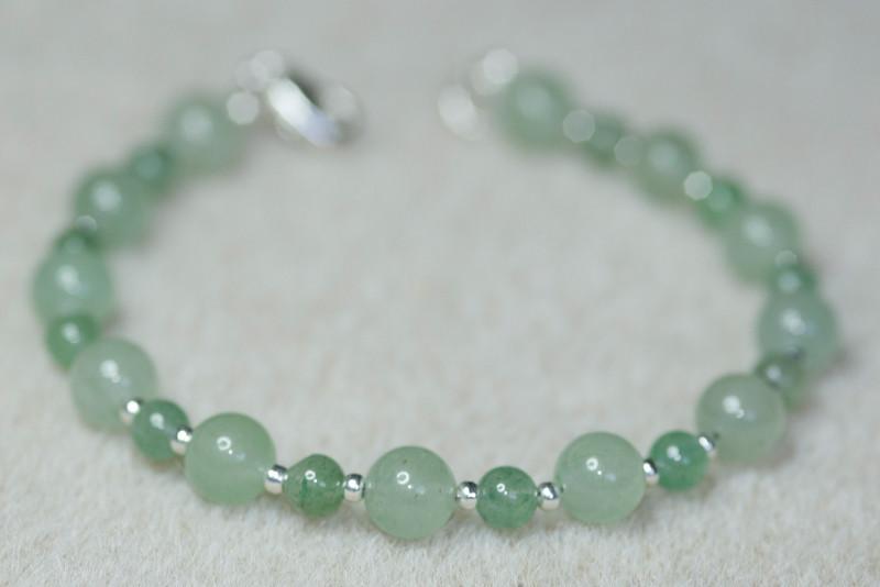 Aventurine & Silver beads