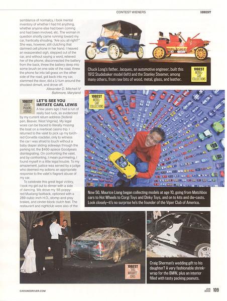 Car and Driver Magazine - Jan 2008