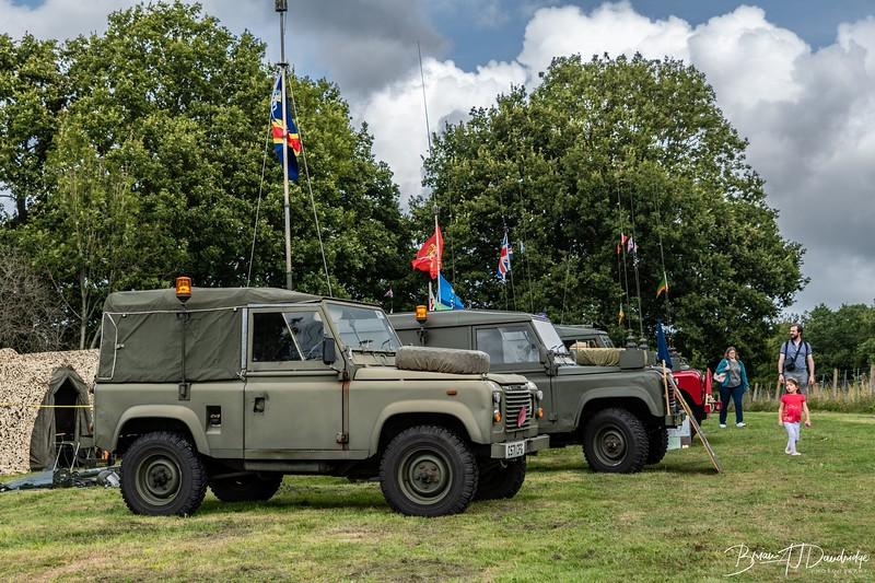 Military vehicles on display at Horsted Keymes