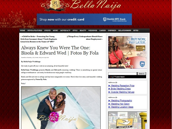 Bisola & Edward Wedding Featured on Bella Naija | Fotos by Fola | Atlanta wedding Photographers