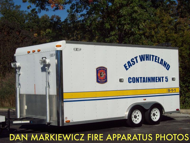EAST WHITELAND FIRE CO. CHESTER COUNTY CONTAINMENT 5 CARMATE SPILL CONTAINMENT TRAILER