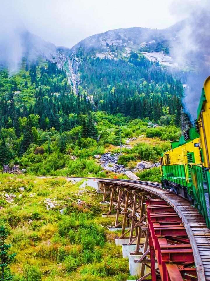 阿拉斯加归来,火车前行