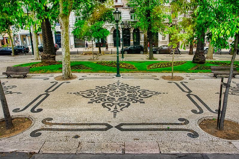 Lisbon inlaid sidewalk