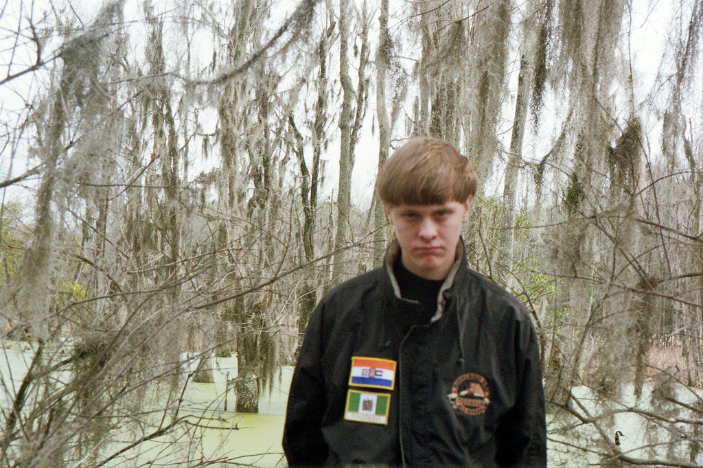 . Dylan Roof is shown in a Facebook photo posted in May of 2015.