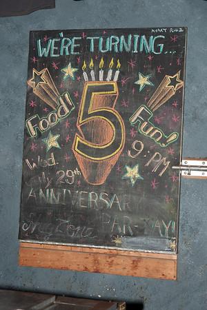 Side Bar 5th Anniversary