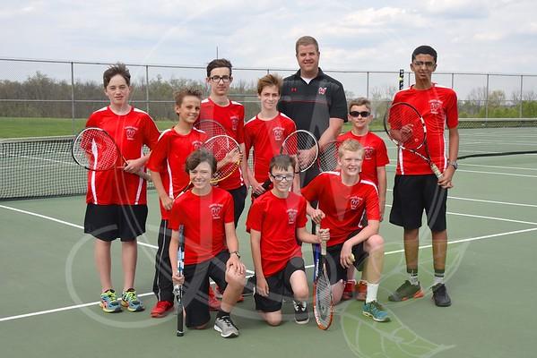 Ridge  & Plains Boys Tennis vs. Hamilton (4.25.16)