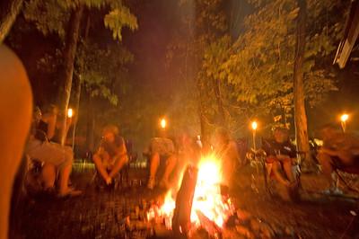 Camping at Lander's River Trips 2007