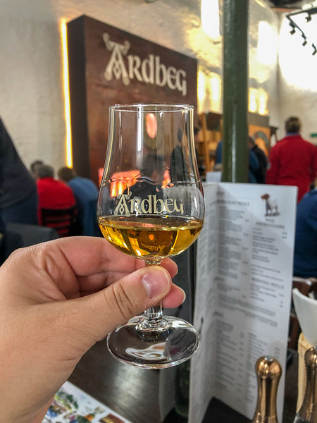 Dram at Ardbeg Distillery