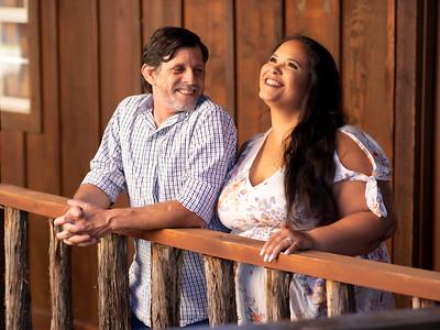 Jennifer & Greg Engagement photos at Lucky Spur Ranch