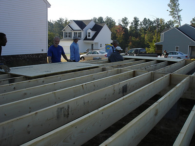 Habitat for Humanity house build - 10/04/08