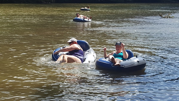 Tubing and kayaking on the Yadkin River - 8/13/2016