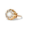 Victorian Opal and Old Mine Cut Diamond Cluster Ring 0