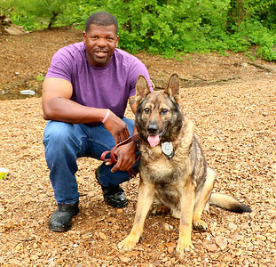 Mike and K9 Johnny