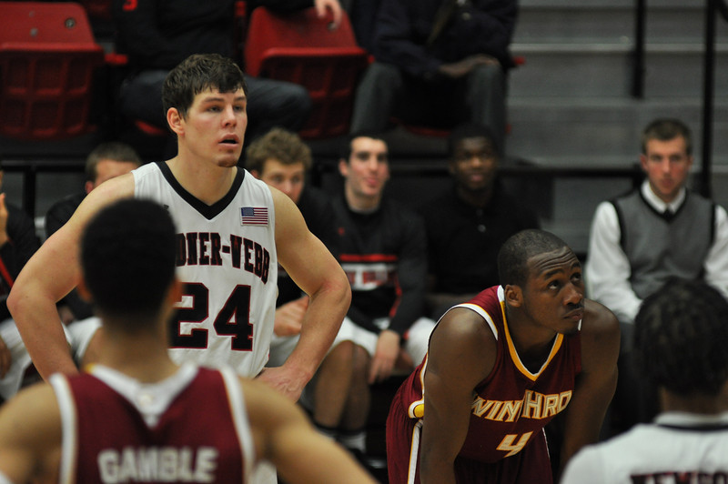 Kevin Hartley during a free throw shot against Winthrop University Tuesday February 19, 2013.
