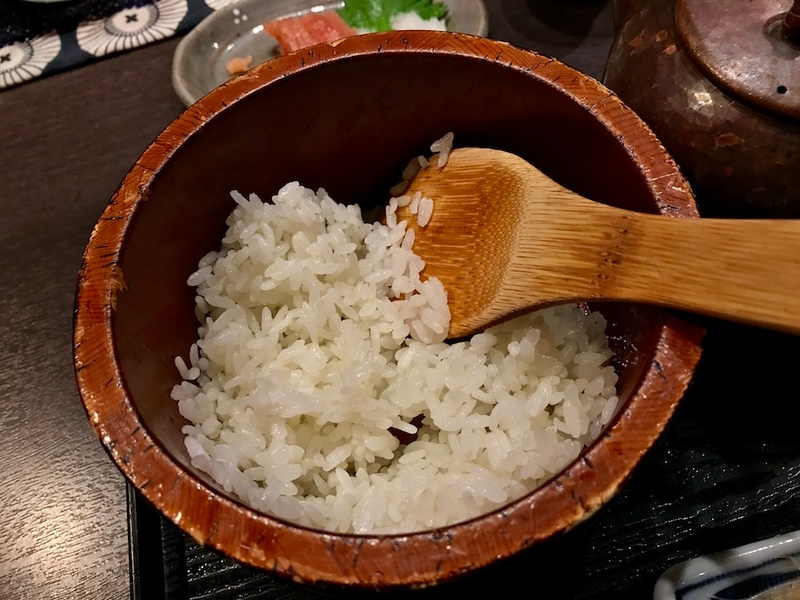 The rice comes in a separate container!