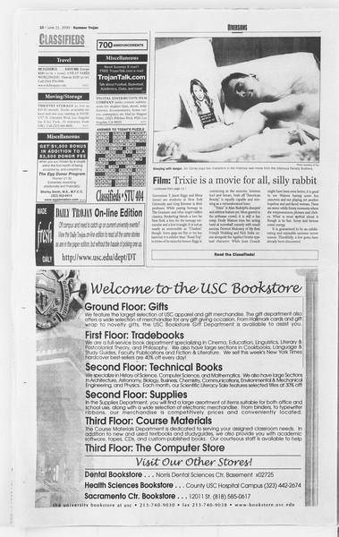 Summer Trojan, Vol. 140, No. 6, June 21, 2000