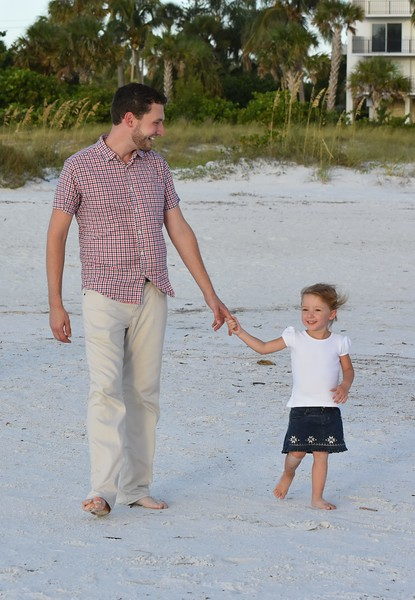 Family Photo Session at Lido Beach, FL