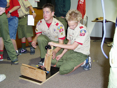 2/3/2003 - Troop Meeting and Chariot Racing