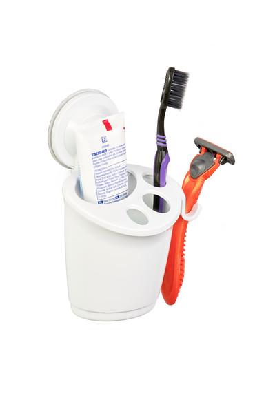Gelmar Perma Power Suction Toothbrush Holder White