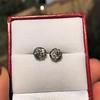 1.73ctw Georgian Peruzzi Cut Diamond Collet Stud Earrings 14