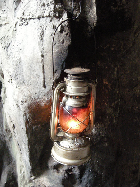 Lantern in the cave shrine