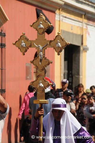 Cross at Semana Santa - Antigua, Guatemala