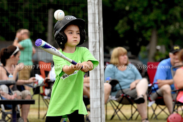 Athens T-ball Orange vs Lime Green 6-13-2017