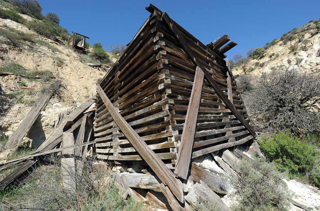 ". A former structure remains on what is left of the abandoned coal mining town of Tesla on land owned by the Carnegie State Vehicular Recreation Area in Livermore, Calif., on Friday, Feb. 15, 2013. The coal mining town, named for Nikola Tesla, was closed in 1911 and became a ghost town. The buildings are gone and now the California State Parks\' Off Highway Vehicle division has plans to use the 3,500-acre area to expand the Carnegie State Vehicular Recreation Area. However, a group called ""Save Tesla Park\"" opposes the expansion. The group wants the land designated as a low-impact recreation park, and historic and natural resource preserve. (Doug Duran/Staff)"