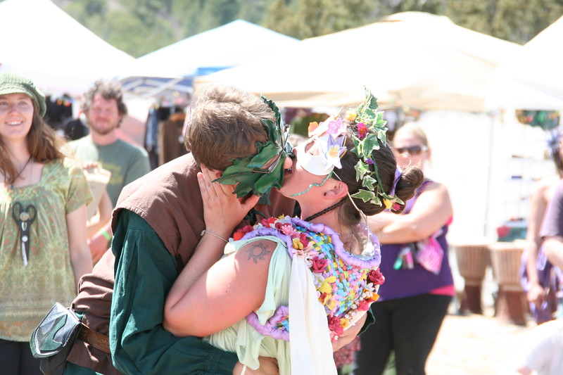 The Green Man and the May Queen kiss