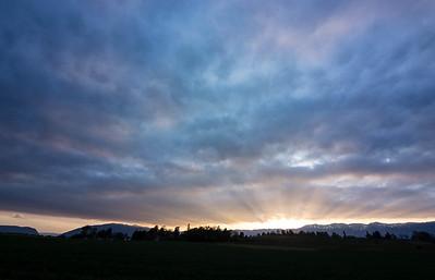 Sunset from Satigny