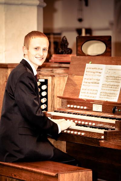 Liam Playing Organ