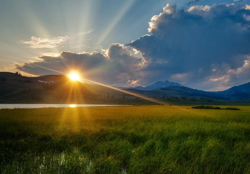 Beautiful Sunset in Yellowstone