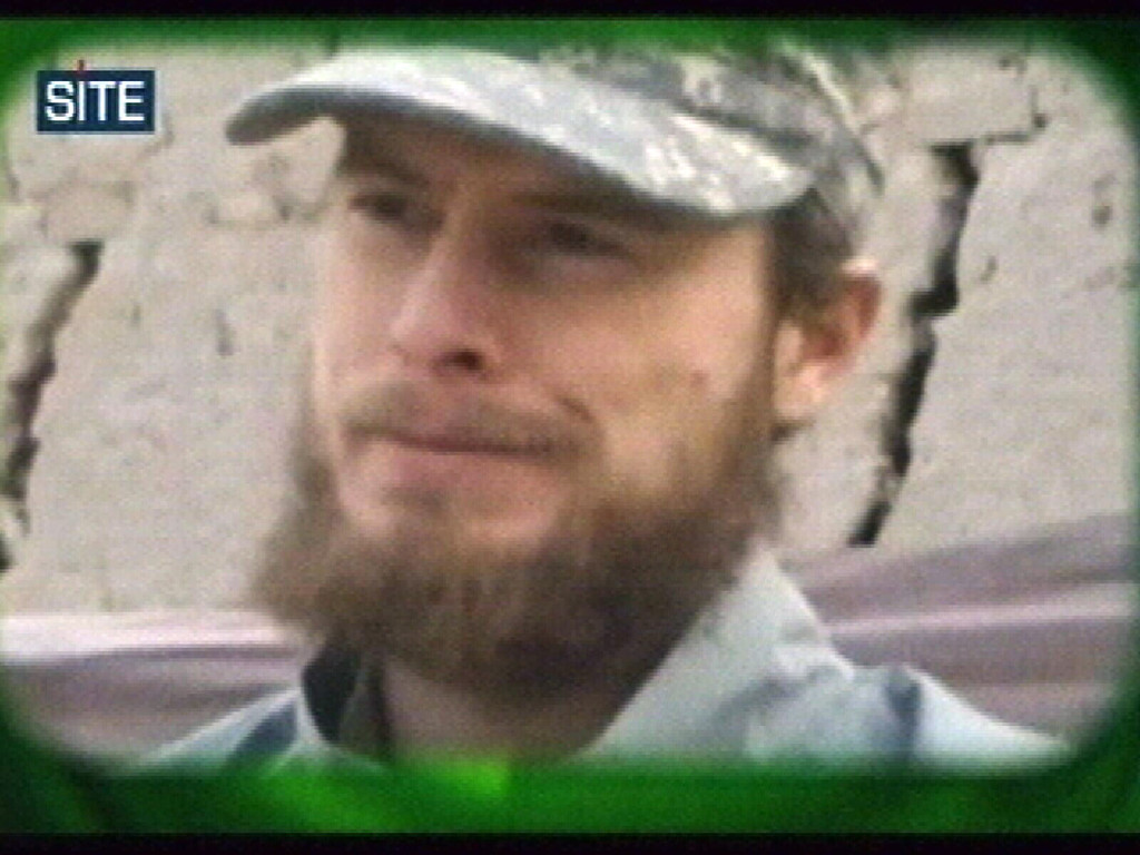 """. FILE - This image made from video released Wednesday April 7, 2010 by the Taliban via the Site Intelligence Group shows U.S. soldier then Pfc. Bowe Bergdahl. Afghanistan\'s Taliban says it has suspended \""""mediation\"""" with the United States to exchange captive U.S. soldier Sgt. Bowe Bergdahl for five senior Taliban prisoners held in U.S. custody in Guantanamo Bay, halting � at least temporarily � what was considered the best chance yet of securing the 27-year-old\'s freedom since his capture in 2009. In a terse Pashto language statement emailed to the Associated Press on Sunday, Zabihullah Mujahed blamed the \""""current complex political situation in the country\"""" for the suspension. (AP Photo/Site Intelligence Group, File)"""