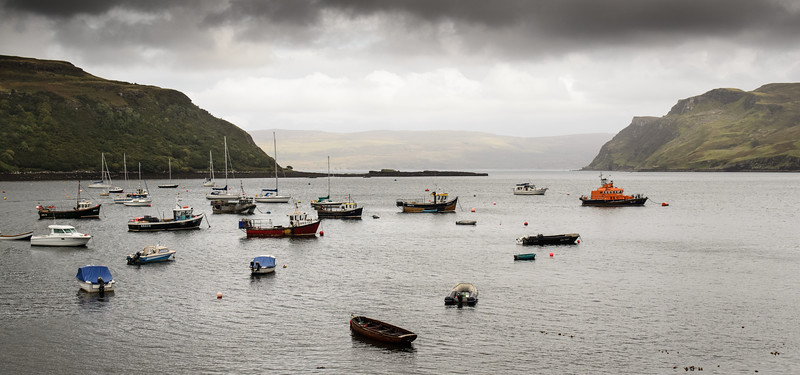 Boats in Portree Bay