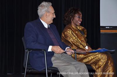 Hafsat Abiola '92 and Frank Stella '54