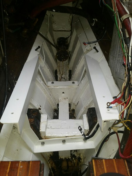 Engine bed in place