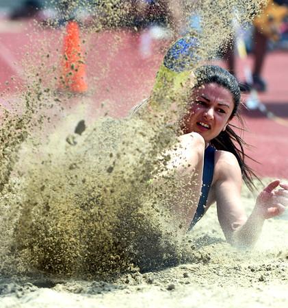 7/14/2018 Mike Orazzi | Staff Ruslana Tsykhotska during the Nutmeg State Games held at Veterans Memorial Stadium in New Britain Saturday.