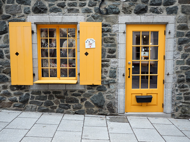 Colorful doors in Quebec City