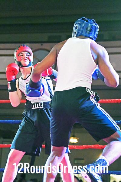 Bout #5:  Shamart Summerall (Blue Gloves), Rising Dragon  vs  Dorian Mills (Red Gloves), Bula Boxing, 165Lbs., Sub-Novice