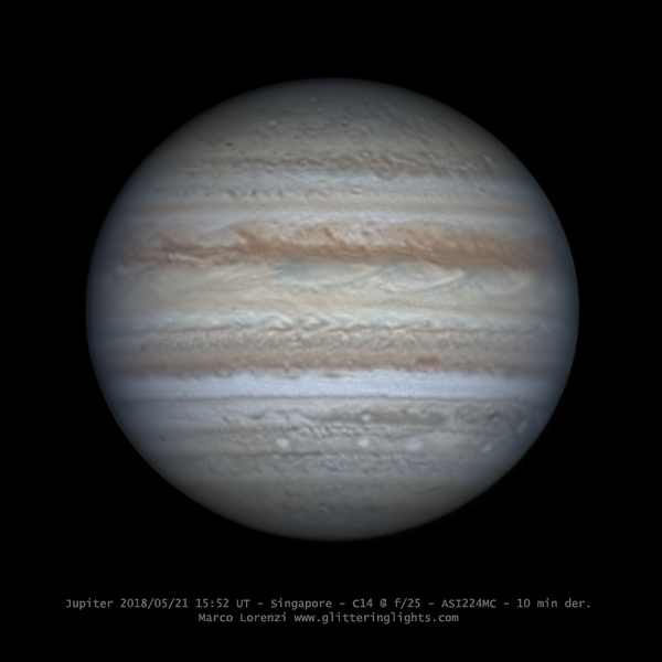 Jupiter on May 21, 2018