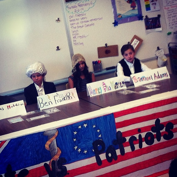 Loyalists vs. Patriots 5th grade debate.