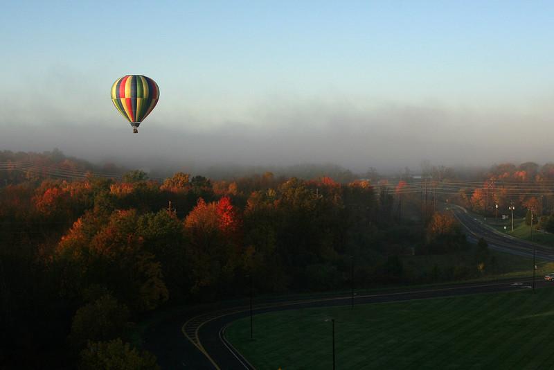 2012-10-20. Hot Air Balloon ride. Lower Hudson Valley, NY.